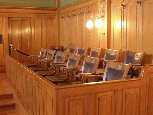 Picture of empty jury box